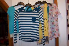 Lot 4 Junior Girls Summer L & XL Shirts Arizona/Hippie Rose/Sugar High & Spoiled