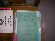 AJS SPARES LIST 1951 SPRING TWIN 500cc VERTICAL TWIN MODEL 20