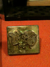 Vintage Tandy Craftool 2D/3D stamp #8214 Rams Head