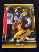 2017 Leaf Draft Gold Football Card #46 Kareem Hunt Chiefs