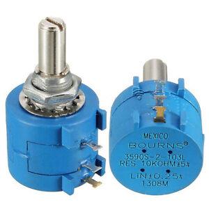 3590S-2-103L 10K Ohm BOURNS Rotary Wirewound Precision Potentiometer YI