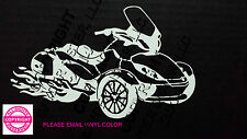 CAN-AM SPYDER ST LIMITED WITH FLAMES WINDOW DECAL/BUMPER STICKER - 13 colors