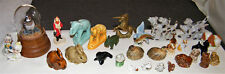 Vintage 29pc Lot Mostly Ceramic MINIATURE FIGURINES Dogs/Elephants/Birds/Rabbits