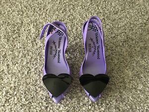 VIVIENNE WESTWOOD ANGLOMANIA MELISSA Pumps Schuhe lila 35/36 NEU