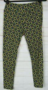 LuLaRoe Women's Leggings Yellow, Black, Teal & Burgundy Size TC New