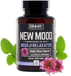 ONNIT - NEW MOOD: Mood + Relaxation + Sleep 30 Ct || STRESS SUPPORT SUPPLEMENT