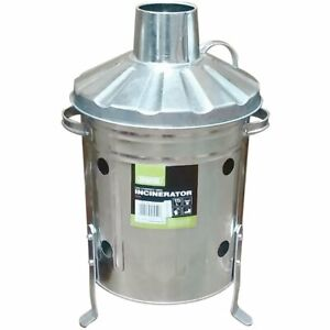 Draper Mini Galvanised Incinerator Bin Fire Burning Garden Waste Rubbish Wood