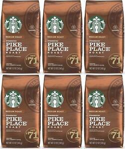 6 PACK Starbucks Medium Pike Place Roast Coffee Ground 12 oz Best Before 2/2021