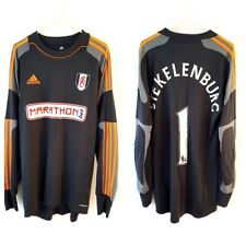 Fulham STEKELENBURG Goalkeeper Shirt 2013. Medium. Adidas. Black Fooball Top M.