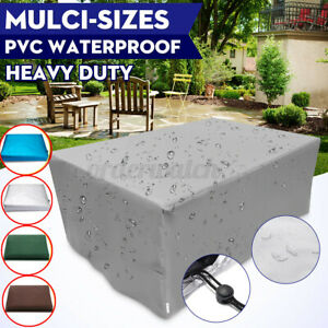 Outdoor Cover Garden Furniture Waterproof Patio Rattan Table Chair Cube Set