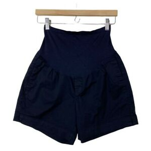 Old Navy Maternity Women's Casual Black Shorts Full Belly Band Size 6