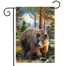"Mountain Bear Summer Garden Flag Outdoors Wildlife 12.5"" x 18"" Briarwood Lane"