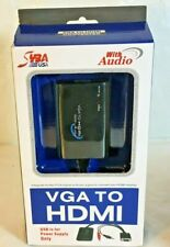 SYBA Universal VGA to HDMI Converter with Audio Support, Adapter for PC, Laptop,