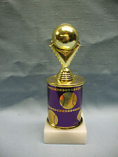 gold ball Baseball trophy purple theme column marble base
