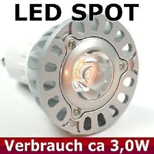 LED Lampe Power LED hell  GU10  3 Watt