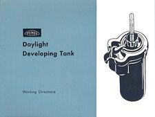 Minox Daylight Developing Tank INST. MANUAL FREE SHIP