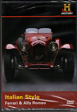 AUTOMOBILES ITALIAN STYLE: FERRARI & ALFA ROMEO-Hist Channel Dream Machines-DVD