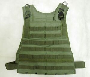 New Airsoft Molle Tactical LBV FSBE Light Weight Protective Carrier OD
