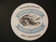 Beer Coaster Bar Mat    CREEMORE SPRINGS Fresh Lager ~ Ontario, CANADA Est. 1987