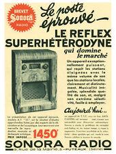 Publicité ancienne poste de  radio TSF  Sonora  issue de magazine