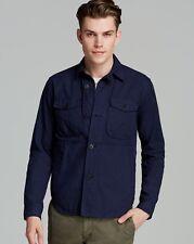 VINCE Indigo Blue Vintage CPO Shirt Jacket Men's M Medium - MSRP $355 - NWT NEW!