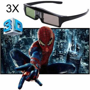 3X Aufladbare Universal-Active Shutter 3D-Brille für 3D Ready DLP-Link-Projektor