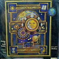 Counted Cross Stitch Kit Each Dawn a New Day Beginning Moon Stars 11x14 72573