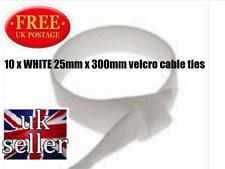 Velcro Marque One-Wrap 10 x 25 mm x 300 mm câble cravate blanche double face cerclage