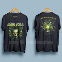 OVERKILL American thrash metal Band The Wings Of War Men's Black T-Shirt S-XXL