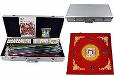 American Mah jong 166 Set Collectible Western Mah Jongg Tiles w/Pushers Silver