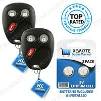 Replacement for 2003 2004 2005 2006 Chevy Avalanche Tahoe Remote Car Key Fob (2)