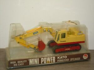 Kato HY-DIG Hydraulischer Löffelbagger - Shinsei Mini Power 1:65 in Box *37572