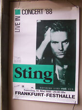 STING,FRANKFURT FESTHALLE 1988 poster 60x84 cm vg+/ gerollt