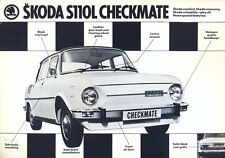 Skoda S110L Checkmate UK market sales brochure/leaflet