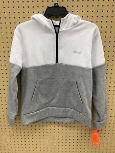 Hind Boys Hoodie (Grey/White, Large)