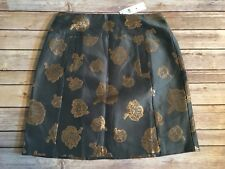 Ann Taylor Floral Straight / Pencil Skirt - Size 8 - Light Blue / Gold - NEW