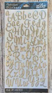 Sticko Silver Sweetheart Alphabet Letter Stickers Planner Teacher Supply Crafts