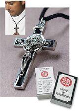 St. Benedict Crucifix/Medal Pendant on Cord( Black)