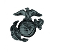 Marine Corps Eagle Globe & Anchor (EGA) Cutout Pin - (7/8 inch) BLACK - 15135BK