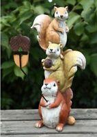 New Creative Squirrel Selfie Totem - Garden Decoration - 39cm x 20cm #26L235
