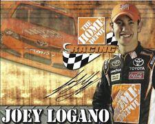 2012 Joey Logano Home Depot NASCAR Signed Auto 8.5x11 Post Hero Card