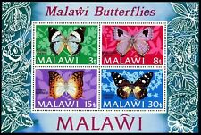 Malawi 202a sheet,MNH.Michel Bl.30.Butterflies 1973.Charaxesbohemani,Uranothauma