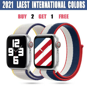 Nylon Weave Sport Loop Band Strap For Apple Watch iWatch Series SE 6 5 4 3 2 1