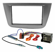 Radioblende Set für SEAT Altea Toledo 5P 2004-2009 Doppel DIN Adapter anthrazit
