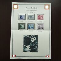 Germany Nazi 1944 Stamps MINT Woman Mail Carrier Field Post WWII Third Reich Ger