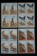 1991 ZAMBIA - FOLKLORE SET IN BLOCKS OF FOUR - SG.639-642 - MNH