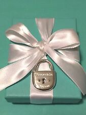 NEW !! Tiffany & Co. Sterling Silver Large Arc Padlock Lock Charm Pendant Rare