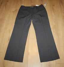 Grey Fabric ATMOSPHERE Zip Low Rise Straight Leg Casual Trousers Sz 16 / 44 L 32