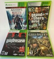 Xbox 360 Video game lot of 4 Wolfenstein Grand Theft Auto Assassins Creed Rogue