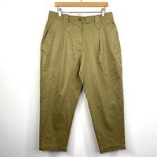 RM Williams Womens Clara Pants Trousers Khaki Tapered High Waist Size 14 NWOT